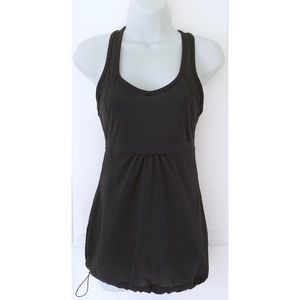 Lucy Black Athletic Racerback Tank Top